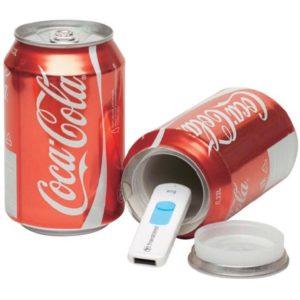 Geheimversteck Cola Dose